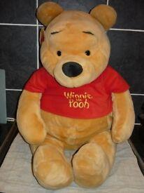 """Disney Winnie The Pooh GENUINE Giant sized Brand New Genuine plush bear 25"""" tall"""