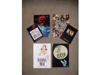 MUSICAL THEATRE SHOW PROGRAMMES, Cats, Oliver, Mamma Mia, We Will Rock You.