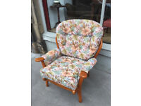 Pair of Matching Armchairs - free local delivery - good condition £120 the pair or £75 each....