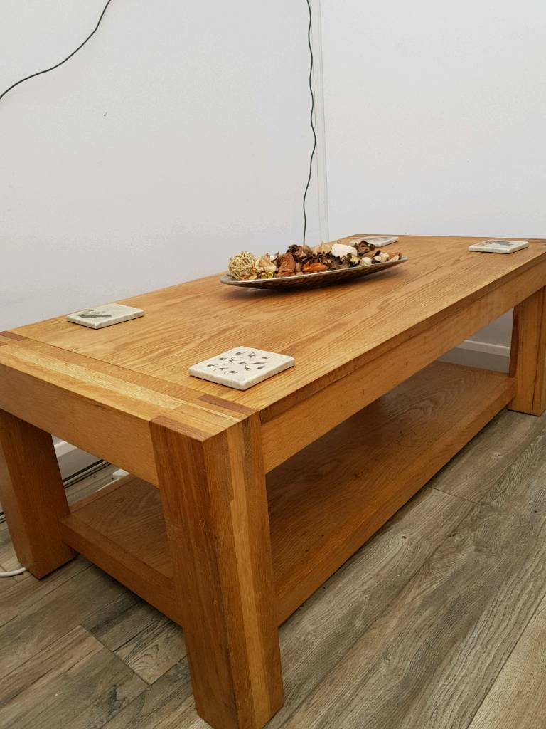 Oak Furniture Land Chunky Solid Coffee Table