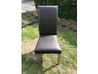 Dining room chairs (leatherette)
