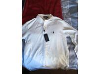 Ralph Lauren white polo shirt long sleeved