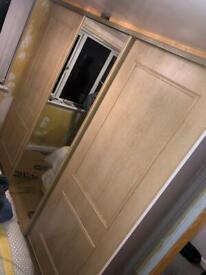 WOOD EFFECT SLIDING DOORS