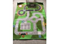 Road Map and Racetrack play mat