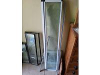 Folding shower screen 1 metre X 1.2metres