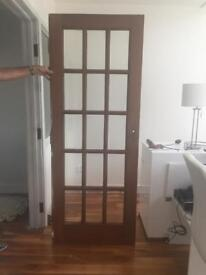 Solid hardwood french doors (pair)