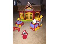 Little people fire station play set