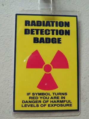HALLOWEEN COSTUME MOVIE PROP - ID/Security Badges (Radiation Detection Badge),](Radiation Halloween Costume)