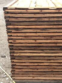 🌩New Brown Wayneylap Fence Panels > Excellent Quality < Pressure Treated > Heavy Duty