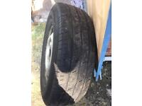 Three wheels and tyres for ford transit 350 , £ 35 for the lot