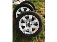 bmw alloys and 4 good tyres