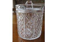 Cut Glass Ice Bucket / Biscuit Barrel