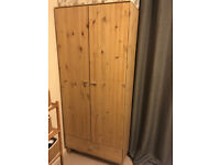 Pine Scandinavian style wardrobe and 2 bedside cabinets