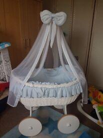 Baby Boys Large Crib On Wheels
