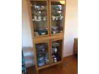 Ikea Oak display cabinet
