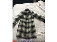 Zara checked wool coat size M
