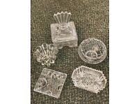 Various Cut Glass boxes
