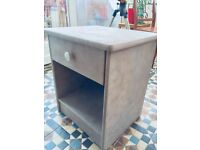Unique upcycled 'shabby chic' bedside cabinet