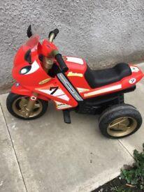 Electric motorbike/ride-on