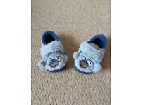 Baby slippers size 2G Clarks