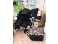 August 2014 All Black Bugaboo Donkey v1.1, Double