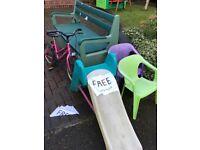 Slide for garden, toddlers size