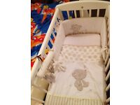 Mothercare swinging crib white