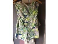 Flora and Fauna Strapless Playsuit size 8