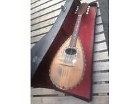 1880s Italian Bowl Back Mandolin With Mother Of Pearl Inlay