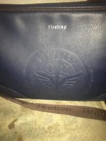 Leather firetrap bag