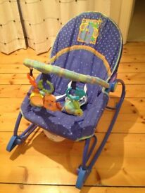 Baby rocker chair, armchair. Vibrating