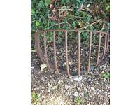 Large wrought iron stable manger/flower planter