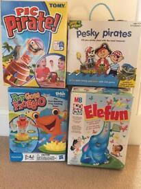 Pop up pirate/pop goes froggio/elefun/pesky pirates