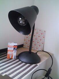 Basic Desk Lamp from Argos + light bulb