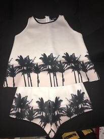 Ladies MissGuided two piece size 10