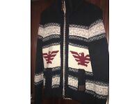 Mens Superdry Navy Buffalo Knit cardigan large £25