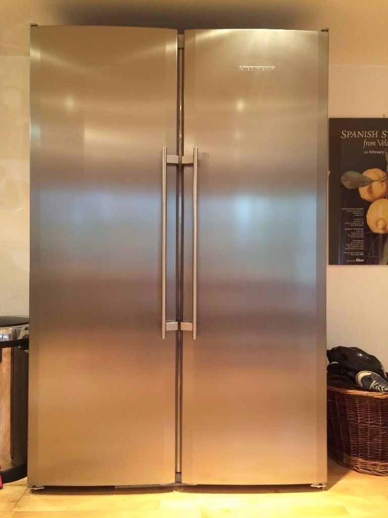 Liebherr Stainless Steel Tall Fridge And Freezer Stand Alone Units Quick Collect Asap