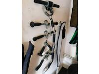 Weight lifting cable attachments bars