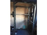 Bodymax cf475 power squat + bench rack