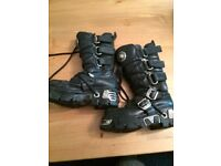 Used New Rock black Goth / Punk boots size 3