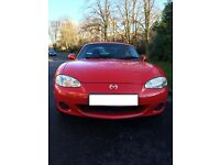 MAZDA MX-5 1597 cc, 2DR Petrol RED CONVERTIBLE 2 AXLE RIGID BODY WITH ORIGINAL HARDTOP FOR SALE