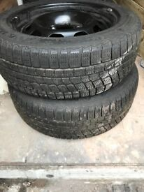 4 Part worn winter tyres