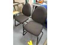 Lovely Black office reception chairs / Black office meeting chairs, office chairs, hardly used