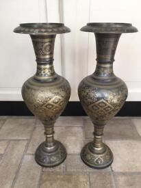 Two medium Antique looking vases for sale