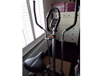 almost new v-fit 2in1 cycle elliptical trainer