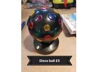 Plug in disco ball