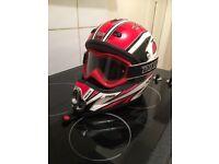 Motor cross helmet adult size