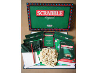 """""""Scrabble Original"""" board game. By Spears 1988. Plus Scrabble Dictionary by Collins."""