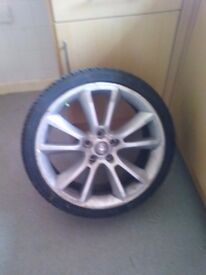 Vxr 19 inch wheel with tyre,tyre in good condition