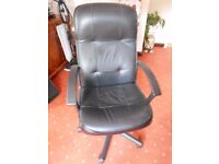Black Leather Office Chair.